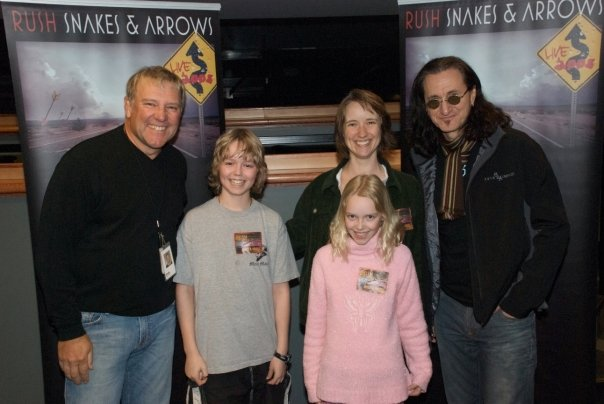 Alex and Geddy meet Krista and kids